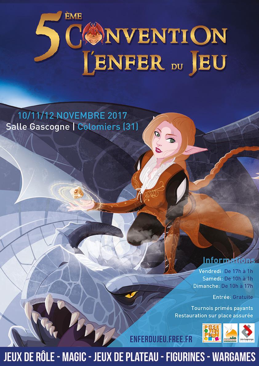 convention de l'enfer du jeu les 11, 12, 13 novembre 2011 Illustration-affiche